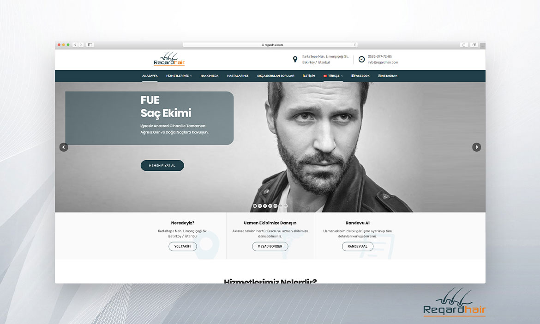 Regard Hair Web Sitesi Tasarımı