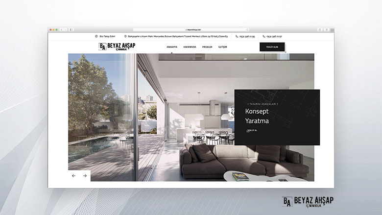 Beyaz Ahşap Web Sitesi Tasarımı
