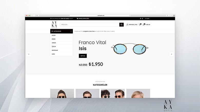 Ayka Optik E-Ticaret Sitesi Tasarımı